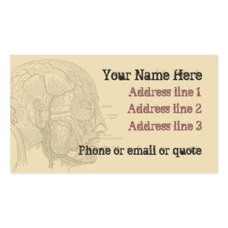 Moreno de la tarjeta de visita de la cabeza de la