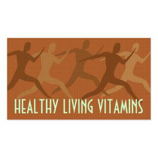 "Moreno de las ""vitaminas vivas sanas"" plantillas de tarjetas personales"
