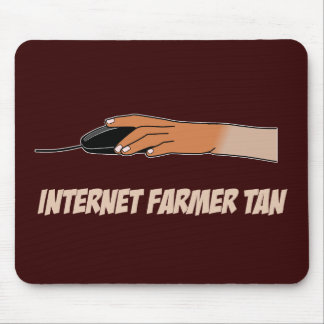 Moreno del granjero del Internet Alfombrilla De Ratones