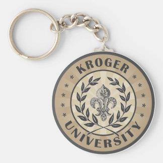 Moreno del vintage de la universidad de Kroger Llavero Redondo Tipo Pin