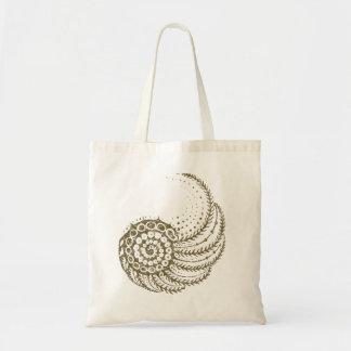 Moreno espiral orgánico bolsa lienzo