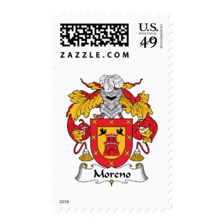 Moreno Family Crest Postage Stamps