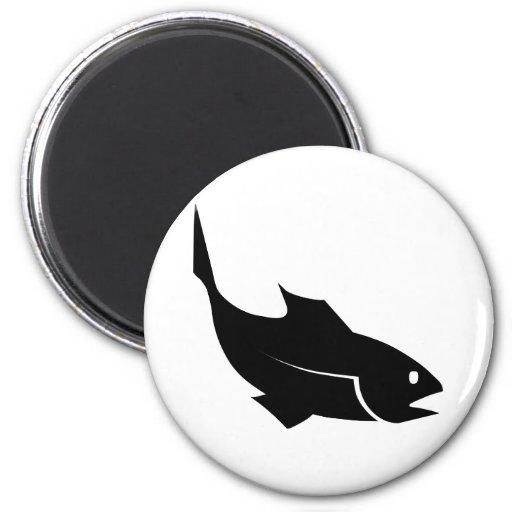 Moreno fish - Go fishing 2 Inch Round Magnet