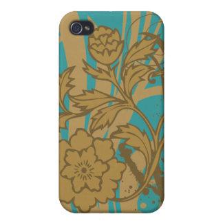 Moreno floral en trullo i iPhone 4 carcasa