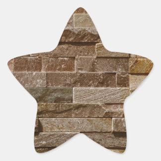 Moreno ligero modelo marrón de los ladrillos calcomanía cuadrada