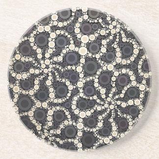 Moreno negro de Brown de los pétalos de la flor de Posavasos Personalizados