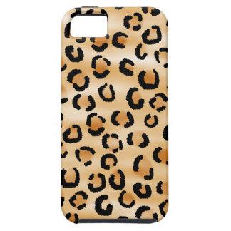 Moreno, negro y modelo del estampado leopardo de B iPhone 5 Case-Mate Funda