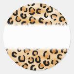 Moreno, negro y modelo del estampado leopardo de pegatina redonda
