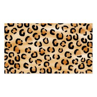 Moreno, negro y modelo del estampado leopardo de tarjetas de visita
