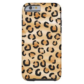 Moreno, negro y modelo del leopardo de Brown Funda De iPhone 6 Tough
