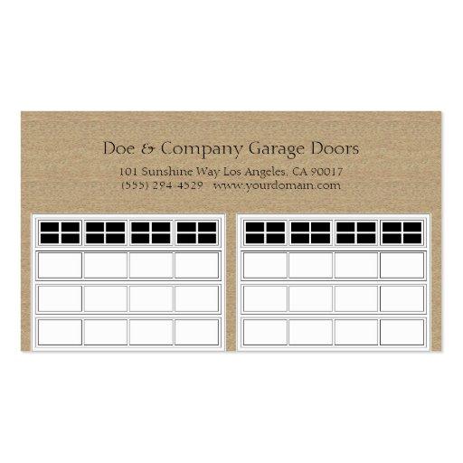 Moreno oscuro de Garage Door Company Tarjetas De Visita
