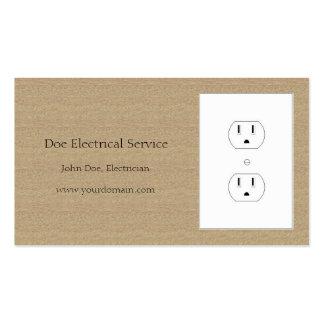 Moreno oscuro del electricista/del contratista tarjetas de visita