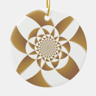 Moreno psicodélico adorno navideño redondo de cerámica