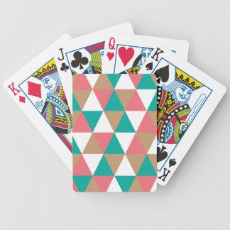Moreno retro geométrico del rosa del trullo del mo baraja cartas de poker