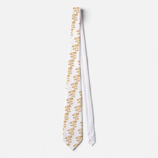 Moreno rizado corbatas