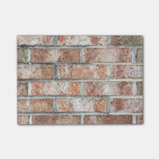 Moreno rojo del fondo de los ladrillos de Brown de Nota Post-it®