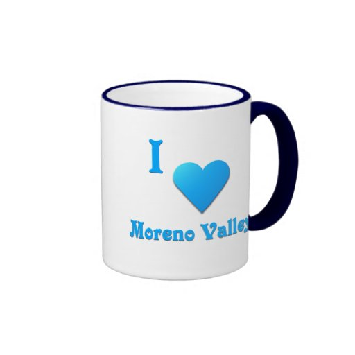 Moreno Valley -- Azul de cielo Taza De Café
