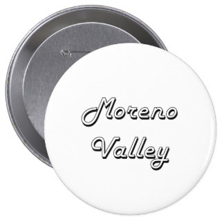 Moreno Valley California Classic Retro Design 4 Inch Round Button