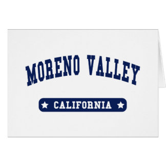 Moreno Valley California College Style tee shirts Card