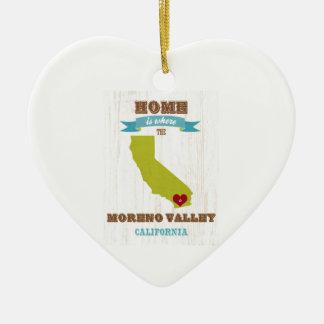 Moreno Valley, California Map – Home Is Where Ceramic Ornament