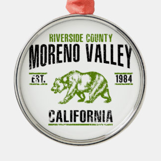 Moreno Valley Metal Ornament