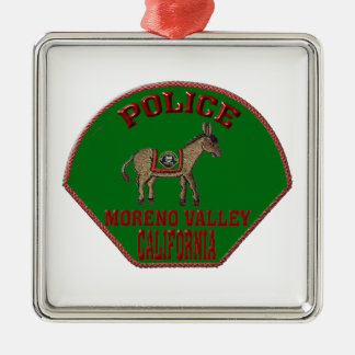 Moreno Valley Police Metal Ornament
