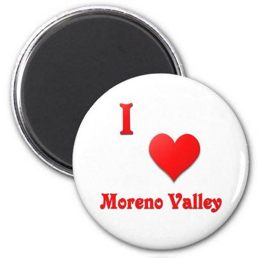 Moreno Valley -- Red Refrigerator Magnets