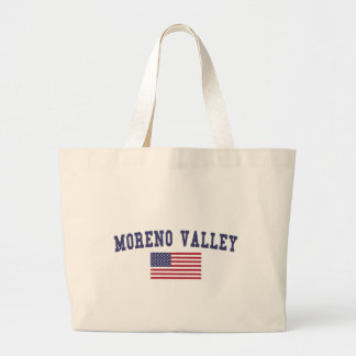 Moreno Valley US Flag Large Tote Bag