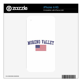 Moreno Valley US Flag Skins For The iPhone 4S