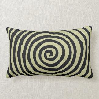 Moreno y almohada de tiro espiral negra del diseño
