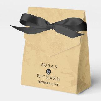 Moreno y caja negra del favor del boda cajas para detalles de boda
