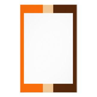 Moreno y efectos de escritorio anaranjados de la f papelería