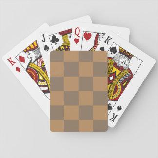 Moreno y modelo gris de la teja barajas de cartas