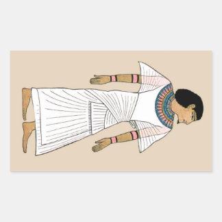 MORENO y pegatina egipcio antiguo BLANCO del sobre