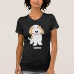 Moreno y perro blanco de PBGV Camiseta