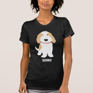 Moreno y perro blanco de PBGV Playera