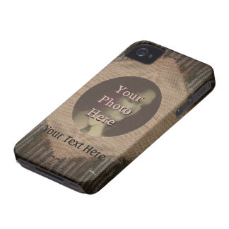 Moreno y punto de Brown Case-Mate iPhone 4 Funda