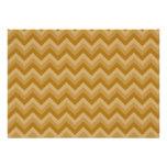 Moreno y rayas beige del zigzag