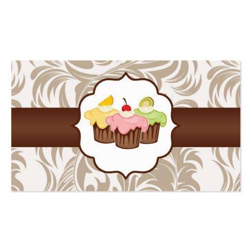 Moreno y tarjeta de visita floral de la panadería