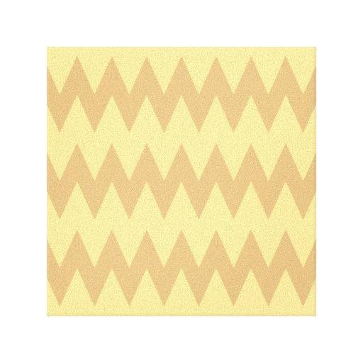 Moreno y zigzags marrones claros impresiones de lienzo