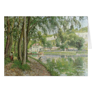 Moret canal du Loing 1902 by Camille Pissarro Card