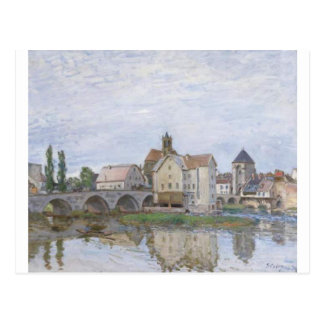Moret on Long Time Gray by Alfred Sisley Postcard