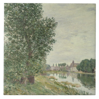 Moret-sur-Loing, 1892 (aceite en lona) Azulejo Cuadrado Grande