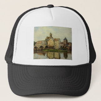 Moret sur Loing, Morning by Alfred Sisley Trucker Hat