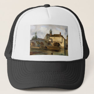 Moret sur Loing, the Bridge and the Church Trucker Hat