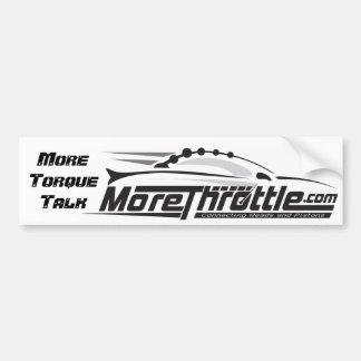 MoreThrottle calificó a la pegatina para el parach Etiqueta De Parachoque