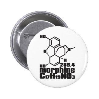 morfina pin redondo de 2 pulgadas