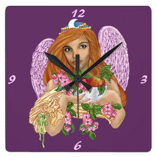 Morgaine La Fee Square Wall Clocks