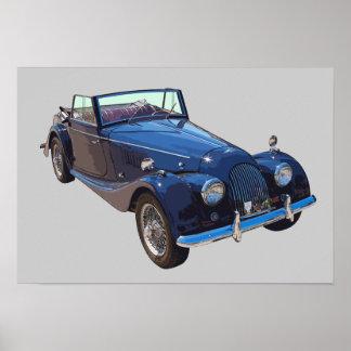 Morgan 1964 más el coche de 4 deportes convertible póster