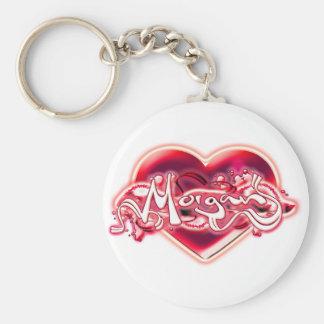 Morgan Basic Round Button Keychain